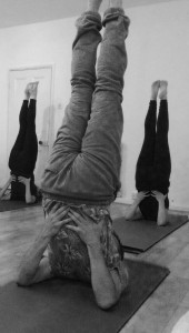 Shoulder stand yoga position