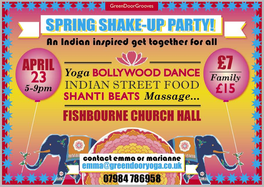 Flyer for Spring Shake Up Party event