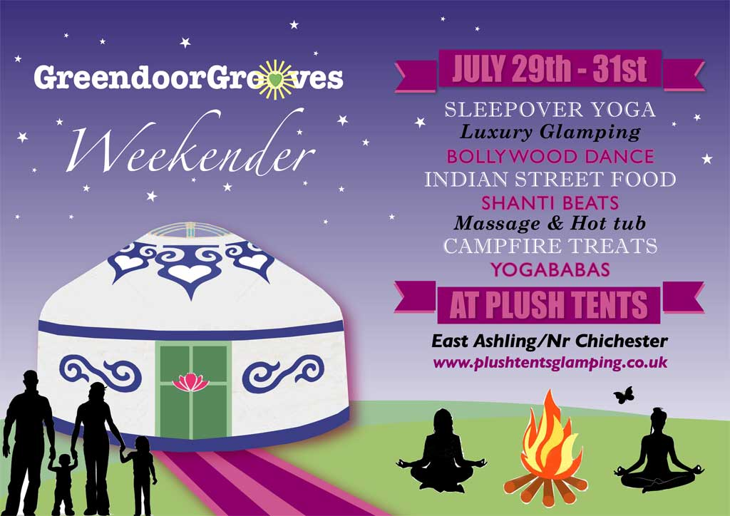 Flyer for Green Door Grooves Weekender July 2016