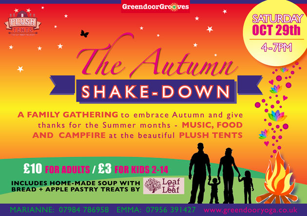 Flyer for the Autumn Shake-Down event