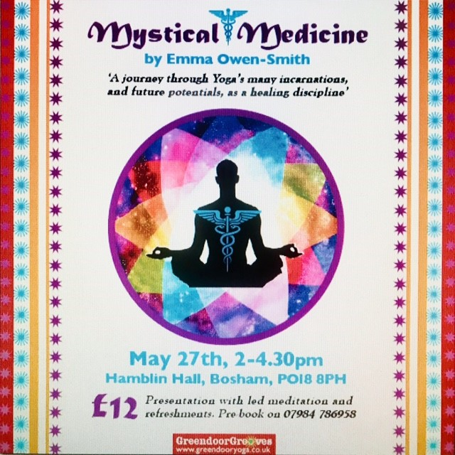 Flyer for Mystical Medicine event