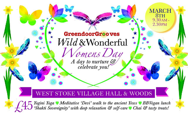 Flyer for Wild and Wonderful Women's Day event
