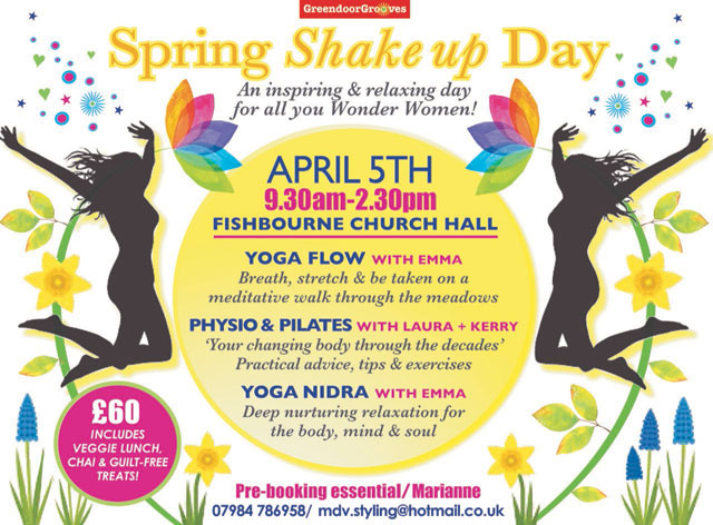 Flyer for Spring Shake Up Day 2019